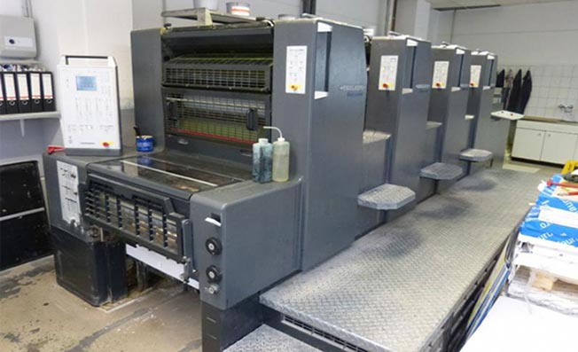 چاپ افست با دستگاه چهار رنگ