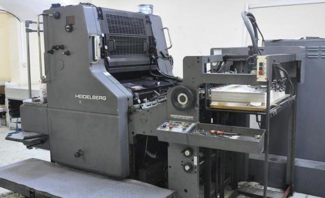 چاپ افست با دستگاه تک رنگ
