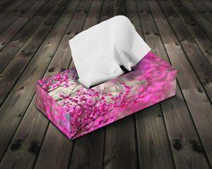 چاپ جعبه دستمال کاغذی